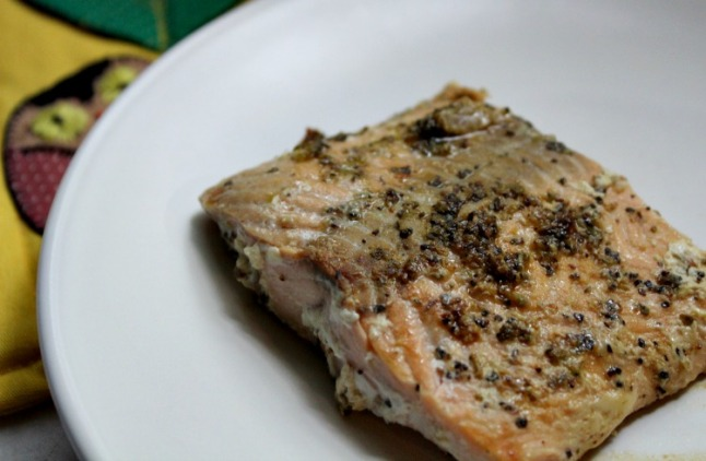 Easy Pan Seared Lemon Pepper Salmon -KintheKitchen