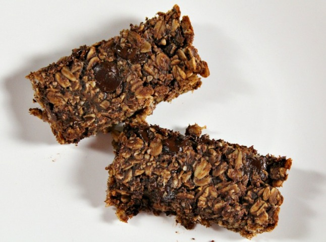 Double Chocolate Peanut Butter Granola Bars-KintheKitchen