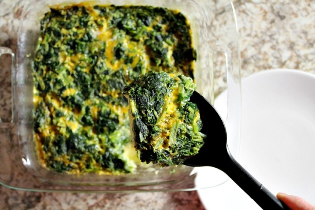 Easy Crustless Spinach Quiche KintheKitchen