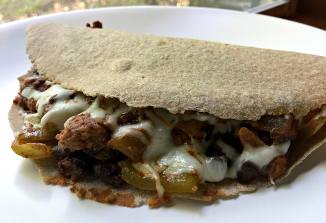 Turkey Black Bean Taco Quesadillas -KintheKitchen