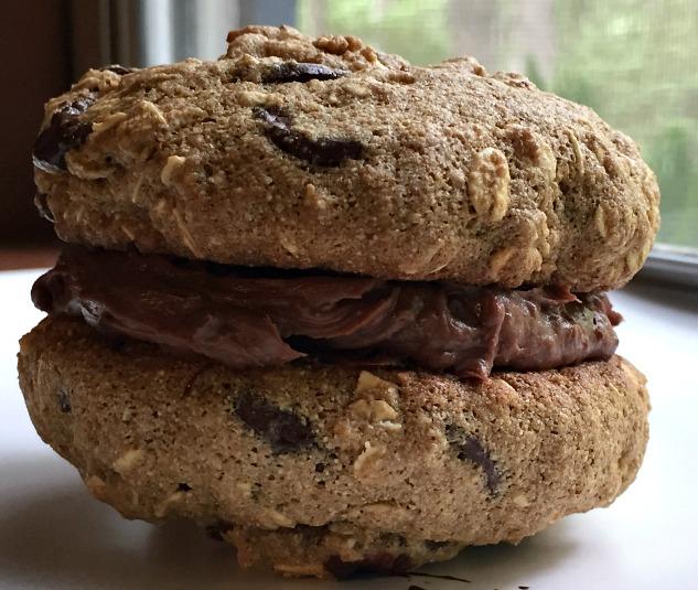 Chocolate Chip Oatmeal Cookie Sandwiches- KintheKitchen