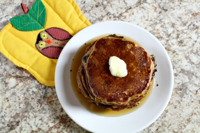 Cinnamon Chocolate Chip Buttermilk Oatmeal Pancakes KintheKitchen