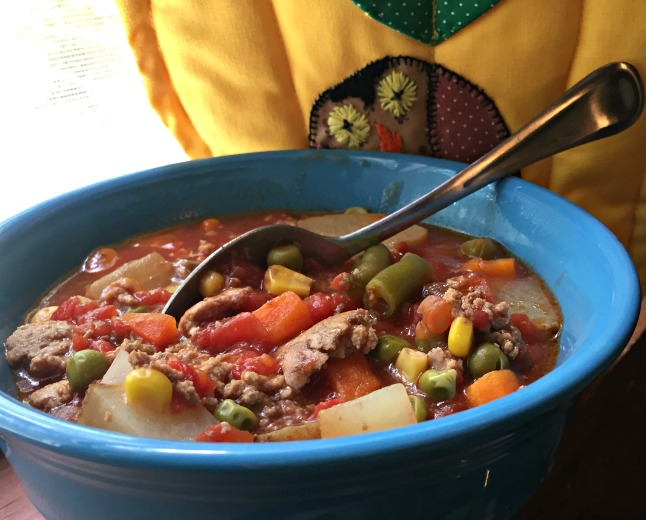 Ground Beef (or Turkey) Vegetable Soup-KintheKitchen.JPG