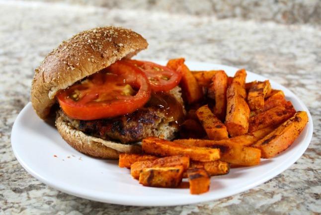 Mozzarella BBQ Turkey Burger -KintheKitchen