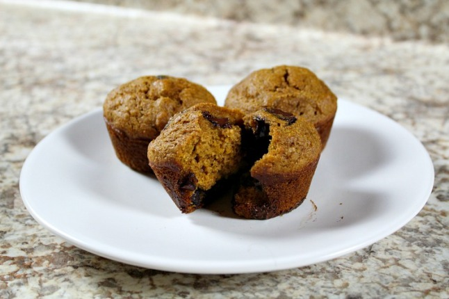 Butternut Squash Chocolate Chip Muffins KintheKitchen