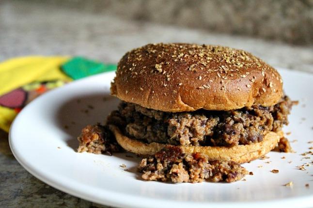 Turkey Black Bean Cheddar Sloppy Joes--KintheKitchen