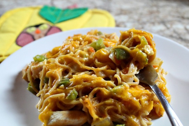 Baked Chicken Salsa Spaghetti---KintheKitchen