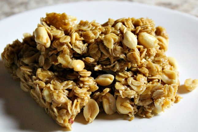 Peanut Butter Granola Bars KintheKitchen