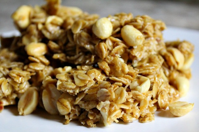 Peanut Butter Granola Bars -KintheKitchen