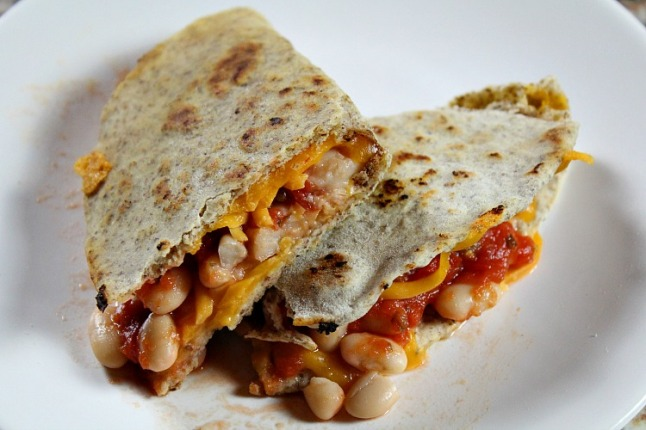 White Bean and Salsa Quesadillas KintheKitchen
