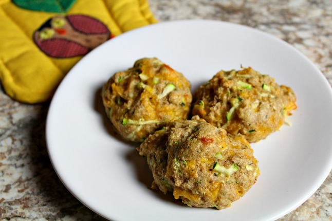 Cheddar Zucchini Drop Biscuits --KintheKitchen.JPG