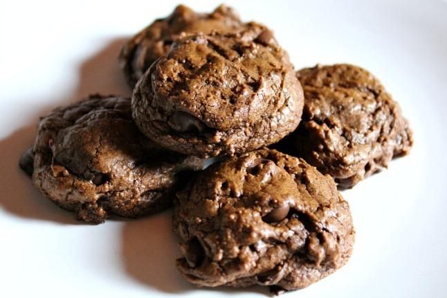 Double Chocolate Brownie Cookies KintheKitchen