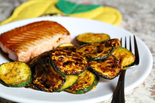Roasted Zucchini - KintheKitchen
