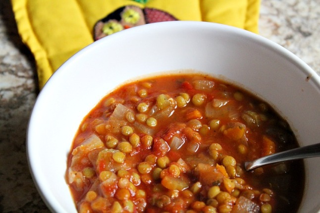 Vegetable Lentil Stew KintheKitchen